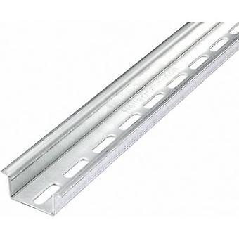 HellermannTyton DELTA-3AF/BV DIN rail perforated Steel plate 2000 mm 1 pc(s)