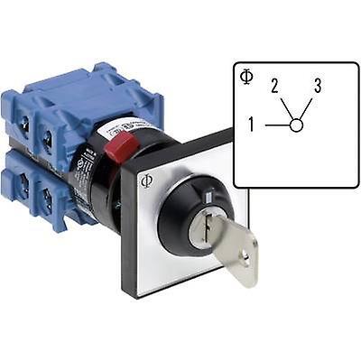 Kraus & Naimer CH10 A230-600 FT2 V750D 3J Uniselector 20 A 2 x 60 ° gris, noir 1 pc(s)