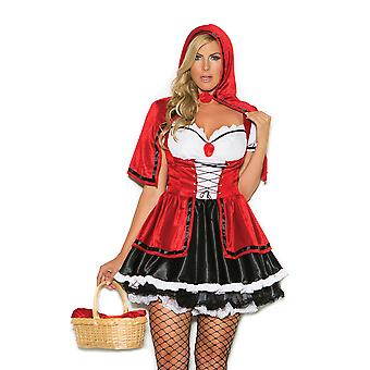 Elegant Moments Womens Plus Size Storybook Red Riding Hood Halloween Roleplay Costume
