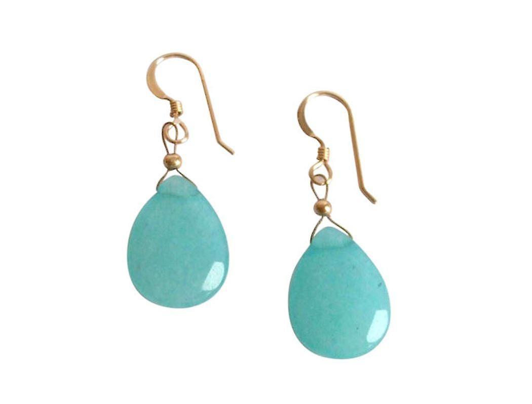Gemshine - dames - boucles d'oreilles - jade - bleu - argent sterling 925 - 2,5 cm