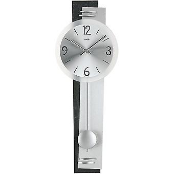Настенные часы с натуральный Шифер алюминиевый металлический циферблат маятник