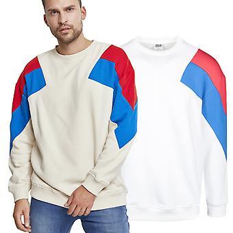 Urban classics - oversize 3-tone sweater