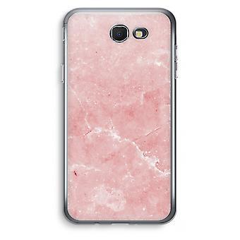 Samsung Galaxy J7 Prime (2017) Transparent fodral (Soft) - rosa marmor