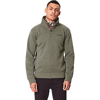 Regatta Herre Lucan knap hals åbning Jacquard Fleece Sweatshirt Top