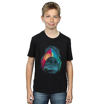 DC Comics Boys Aquaman Mera Logo T-Shirt