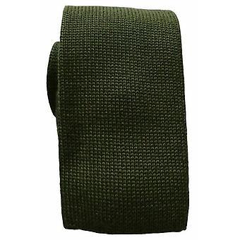 KJ Beckett Plain Wool Tie - Green