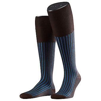 Falke Shadow Socken Kniestrümpfe - braun/blau