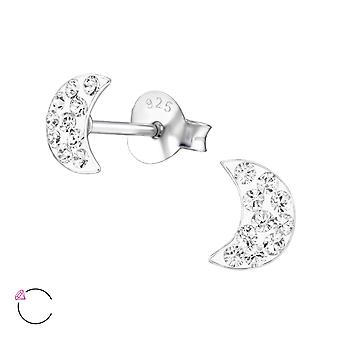 Moon Crystal From Swarovski® - 925 Sterling Silver Children's Ear Studs - W24696x