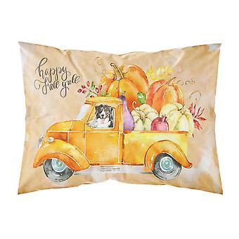 Fall Harvest Bernese Mountain Dog Fabric Standard Pillowcase