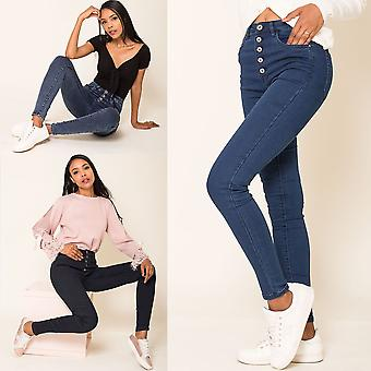 Ladies High Waist Jeans Sexy Pants Jeggings Stretch Skinny Treggings High Waist