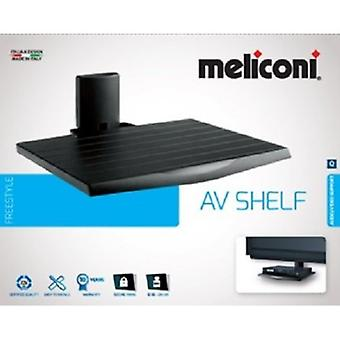Meliconi AV du plateau, plateau appareils, A / V, couleur noire, certification TUV, Made in Italy