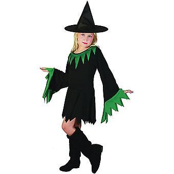 Czarownica czarno zielonym (kapelusz zawarte), Medium.
