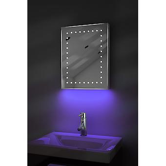 Espejo de baño de LED de ambiente afeitadora con Demister Pad y Sensor K163