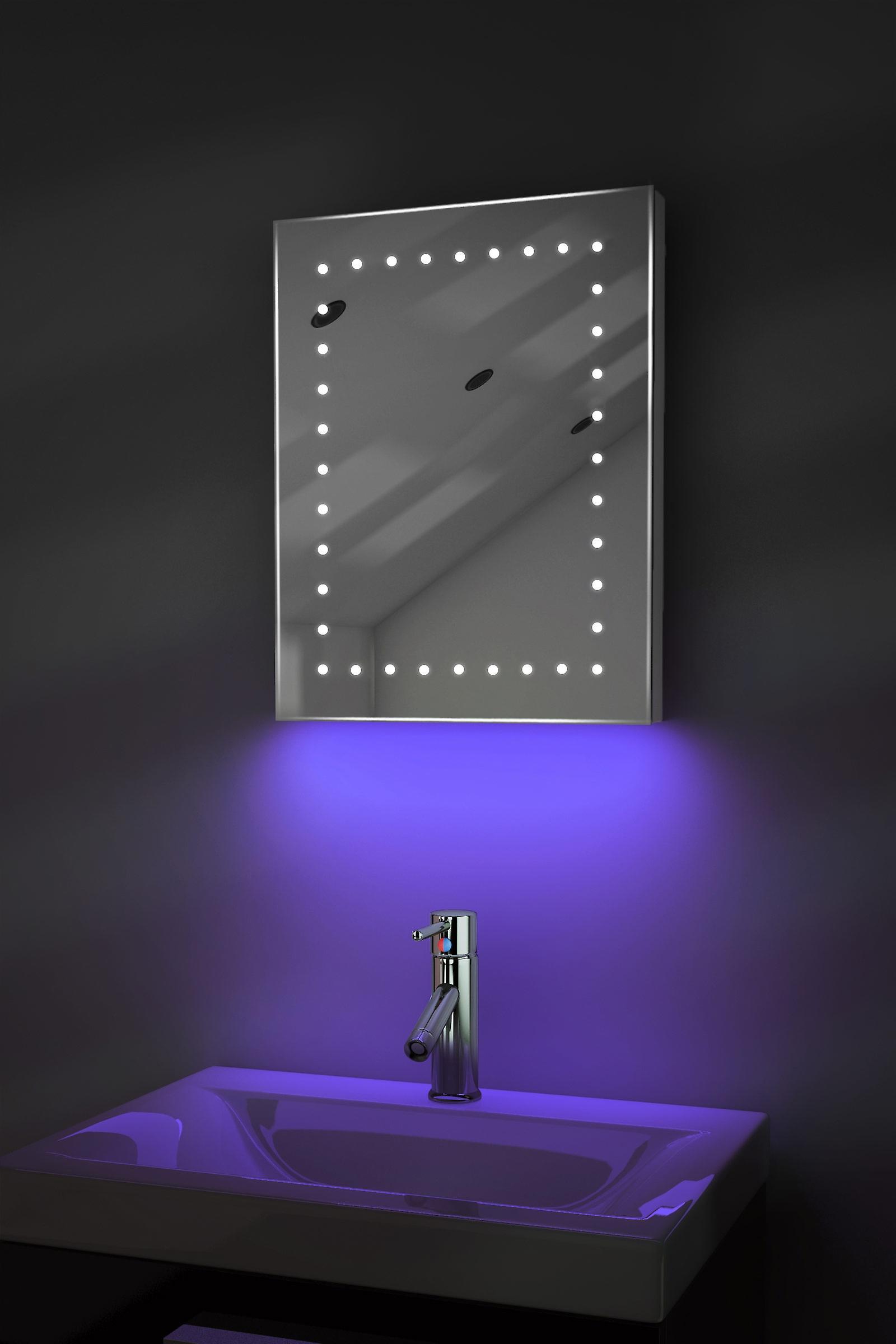 Rasoir ambiant LED salle de bain miroir avec Pad dévésiculeur & capteur K163