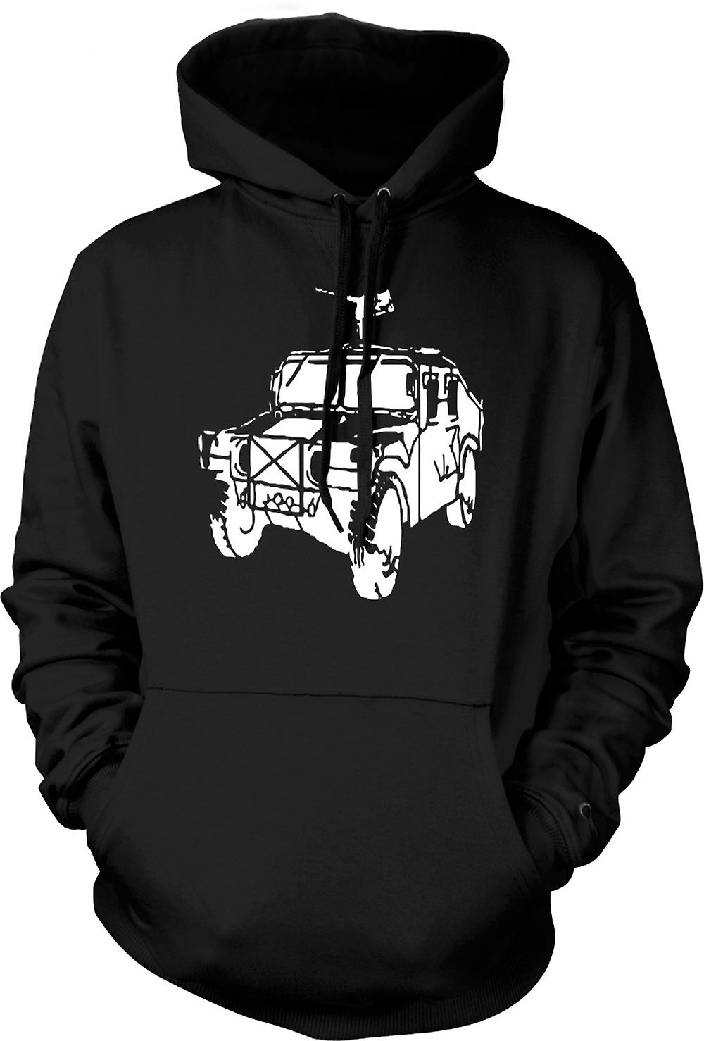 Mens Hoodie - US Army Humvee 50 Cal - Military