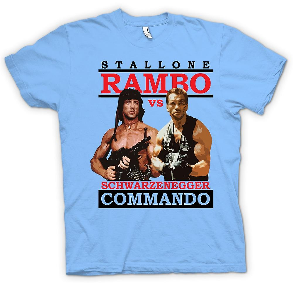 Mens T-shirt-Rambo oder Commando - Action - Held