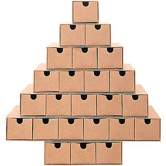 DIY Advent calendar Tree Design Fill Yourself with 24 Mini Drawers