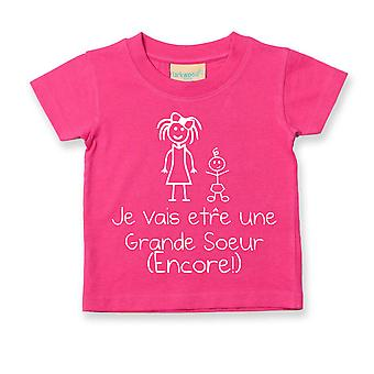 I'm Going To Be A Big Sister (Again!) French Tshirt Baby Toddler Kids Je Vais  tre Grande Soeur