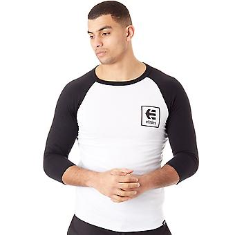 Etnies Black-White Stack Box Raglan T-Shirt
