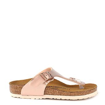 Birkenstock Kids Gizeh Metallic Copper Thong Sandal