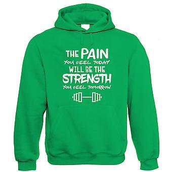 Den smärta du känner idag kommer att vara den styrka som du känner dig imorgon, Hoodie
