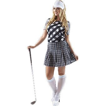 Orion Costumes Womens Black And White Pub Golfer Fancy Dress Costume