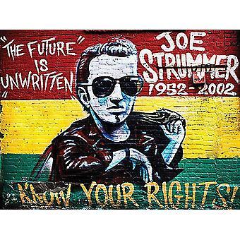 Joe Strummer Know Your Rights  90mm x 65mm fridge magnet  (og)