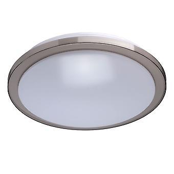 Glasberg - brillant gris LED ronde encastré LED Plafonnier avec diffuseur blanc 674012601