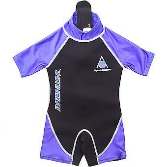 Aqua Sphere Stingray 2mm neopren Shorty svømning badedragt børn