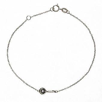 Bracelet Vertigo OPEN ME-OR BLANC - Bracelet Acier Diamant Argent Femme