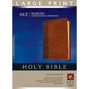Slimline Center Column Reference Bible-NLT-Large Print (large type ed