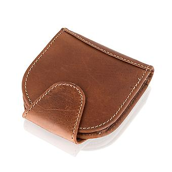 Collapsable Leather Easy Carry Coin Purse Wallet 3.5