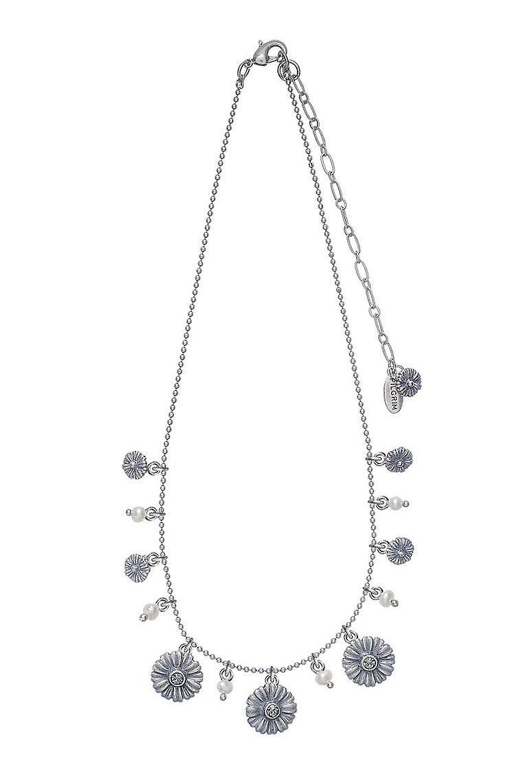 Damenkette pèlerin : fleur mix bleu/argent (494221)