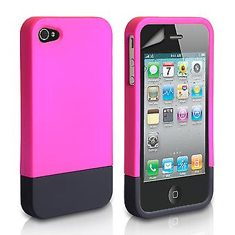 YouSave iPhone 4 4S Two Part Slide Hard Case PinkBlack