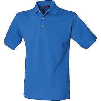 Henbury - Mens Classic Cotton Piqué Polo With Stand-Up Collar