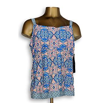 Ocean Dream Signature Plus Swimsuit Medallion Tankini Top Blue A305850