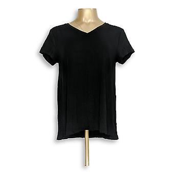 H di Halston Women's Top Essentials V-Neck Forward Nero A306231