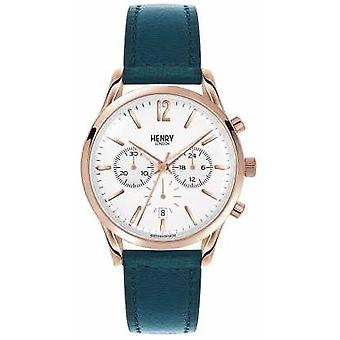 Henry London Unisex Stratford grønne læderrem HL39-CS-0144 Watch