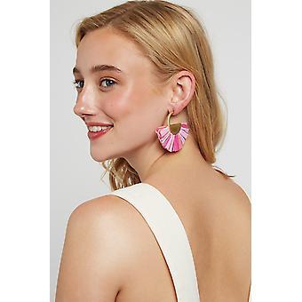 Louche Jeremiah Hoop Earring Pink