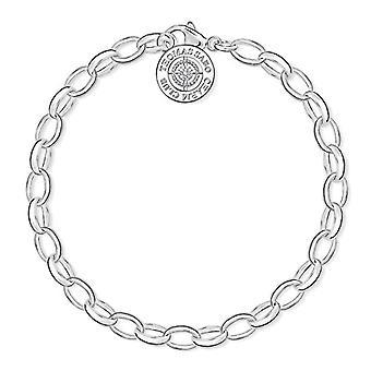 Thomas Sabo Charm Club kvinnors Armband-Silver 925 och Diamond Vit Ball-storlek 14,5 cm