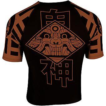 Dokebi Ghost Ranked Short Sleeve MMA Rashguard - Brown