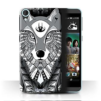 STUFF4 Case/Cover for HTC Desire 820q Dual/Wolf-Mono/Aztec Animal