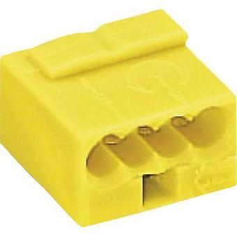 Screw terminal flexible: 0.6- rigid: -0.8 mm² Number of pins: 4 WAGO 1 pc(s) Yellow