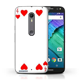 STUFF4 Case/Cover for Motorola Moto X Style/4 of Hearts/Playing Cards