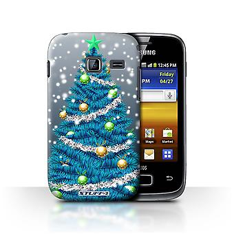 STUFF4 Case/Cover for Samsung Galaxy Y Duos/S6102/Tree/Snow/Christmas Decorations