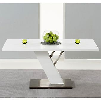Mark Harris Portland 1.6m White High Gloss Dining Table