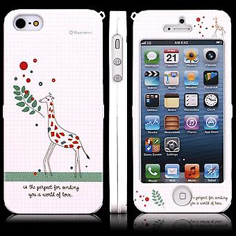 Cover with two-piece Giraffe for iPhone 5