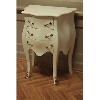 antique chest of drawers white with brass