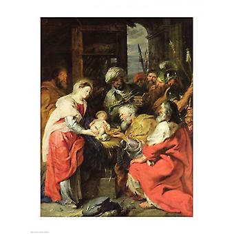 Adoration of the Magi Poster Print by Peter Paul Rubens