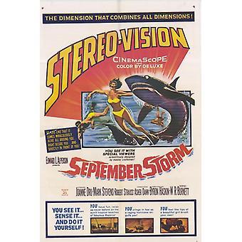 Poster do filme da tempestade de setembro (11 x 17)